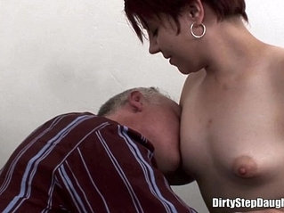 Naughty Stepdaughter Crawling Over Stepdads Bed