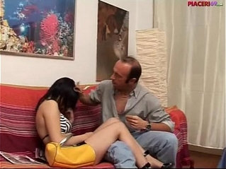 sex in Italian family daughter does blowjob to her father