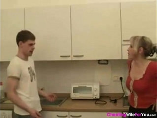 Russian busty wife shared with young guys