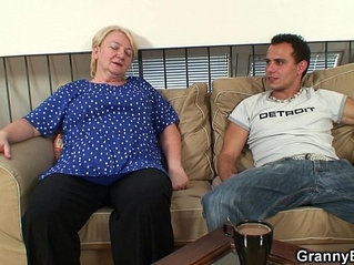 60 years old granny sucks and rides