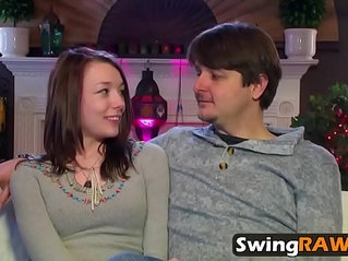Awesome hardcore fuck with gorgeous horny swingers in reality show