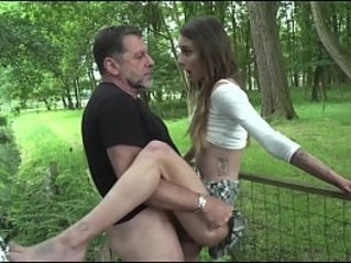 Old man hardcore anal fucking my girl sucks and fucks her pussy and mouth