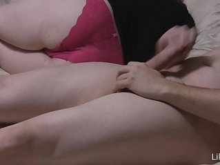 Lilly White with blowjob and pantyjob