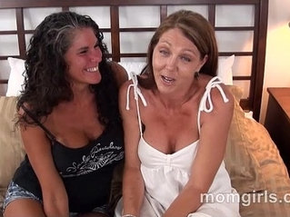 Two busty amateur milf friends fuck suck the same cock