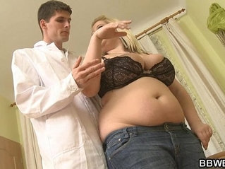 Dirty mind doctor fucks his huge patient
