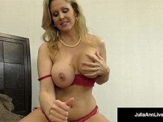 Julia ann world famous milf strokes and sucks a cock in bed