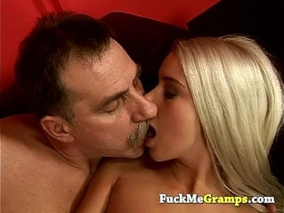 Old hairy guy fucking stunning blonde