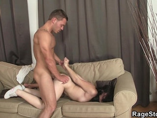 Slutty bitch takes brutal blowjob and rough sex