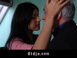 Old teacher sex classes with teeny student