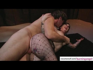 Horny pornstar Joan Angel gets fucked by a massive cock and gets spermy shower