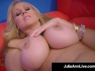 World famous milf julia ann rides stripper pole and rubs her cunt