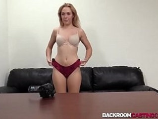 Babe Brittany fucking cock at creampie casting