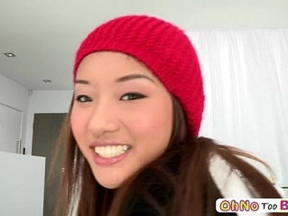 Monster black cock teen pornstar Ana Li and she gets awarded with facial