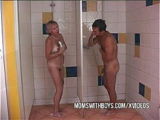 Shower With Horny Old Slut