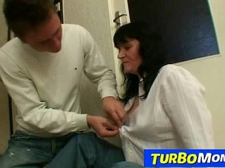Big natural tits housewife Agnes young son sex