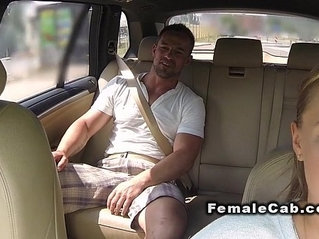 Fat cab driver gets huge mamba cock in bacseat