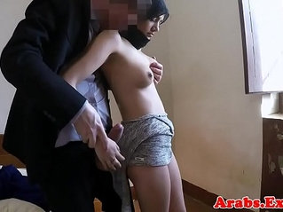 Stunning muslim babe in stockings gets drilled by big cock