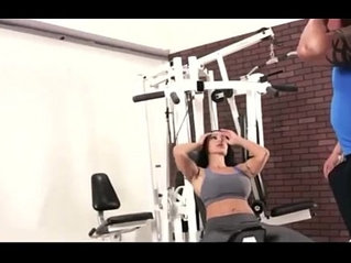 Sexy Hot Moms Workout Fitness at GYM with Guys