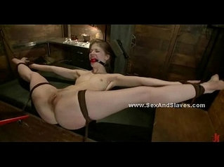 Lady mouth is kept quiet with mouth gag