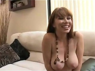 Blue eyes mature cheating with her young guy